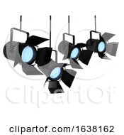 3d Studio Lights On A White Background