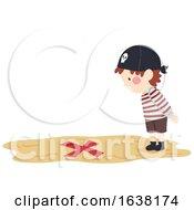 Kid Boy Pirate Found Spot Illustration