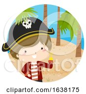 Kid Boy Pirate Hand Hook Island Illustration