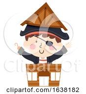 Kid Boy Pirate Shop Illustration