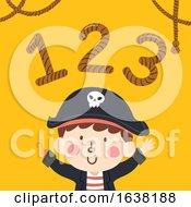 Kid Boy Pirate 123 Rope Illustration