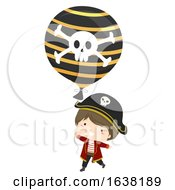 Kid Boy Pirate Balloon Illustration