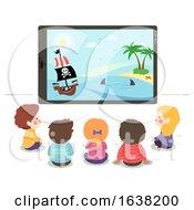 Kids Tablet Watch Pirate Story Illustration