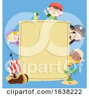 Kids Pirates Map Blank Board Ship Island