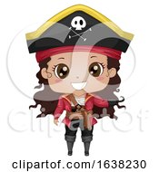 Kid Girl African American Pirate Illustration by BNP Design Studio