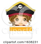 Kid Girl Pirate Tag Name Illustration by BNP Design Studio