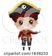 Kid Boy Pirate African American Illustration