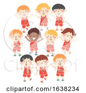 Kids Boys Sport Jersey Numbers Illustration