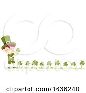 Kid Boy St Patrick Numbers Clovers Illustration
