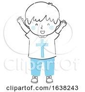 Poster, Art Print Of Kid Boy Doodle Christ Within Illustration