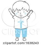 Kid Boy Doodle Christ Within Illustration
