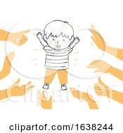 Poster, Art Print Of Kid Boy Doodle Confident Praised Illustration