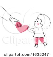 Kid Boy Doodle Parent Give Love Illustration