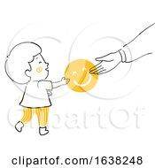 Poster, Art Print Of Kid Boy Doodle Parent Give Smile Illustration