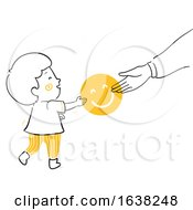 Kid Boy Doodle Parent Give Smile Illustration