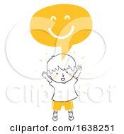 Poster, Art Print Of Kid Boy Doodle Happy Express Illustration