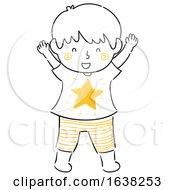 Kid Boy Doodle Shining Star Illustration