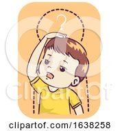 Kid Boy Stalled Growth Development Illustration