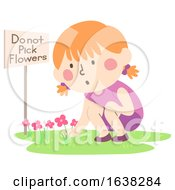 Poster, Art Print Of Kid Girl Not Following Rules Illustration