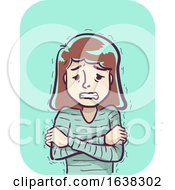 Girl Symptom Cold Shaking Illustration