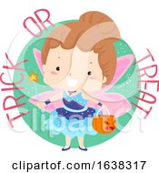 Kid Girl Trick Or Treat Fairy Costume Illustration