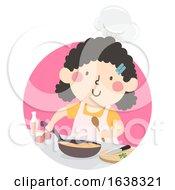 Kid Girl Chef Illustration