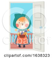 Poster, Art Print Of Kid Girl Sweden Easter Witch Candy Illustration