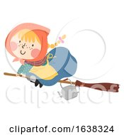 Poster, Art Print Of Kid Girl Sweden Easter Witch Broomstick