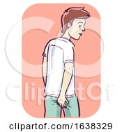 Man Ass Itchy Illustration