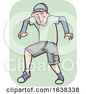 Man Symptom Loss Bladder Control Illustration