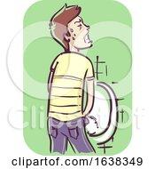 Man Painful Urination Illustration