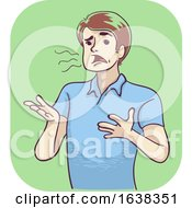 Man Slurred Speech Illustration