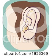 Ear Symptom Crusty Illustration