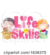 Kids Life Skills Lettering Illustration