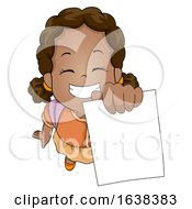 Kid Girl African Showing Test Paper Illustration