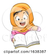 Kid Girl Muslim Classroom Language Open Book by BNP Design Studio