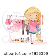 Kid Girl Capsule Wardrobe Illustration
