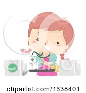 Kid Girl Electronic School Illustration