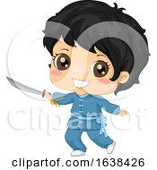 Kid Boy Wushu Illustration