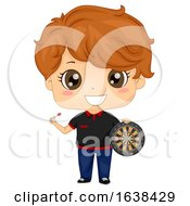 Kid Boy Darts Player Outfit Illustration