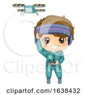 Kid Boy Drone Race Illustration