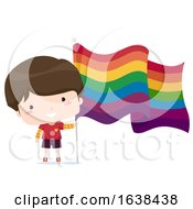 Boy With Lgbt Flag Illustration
