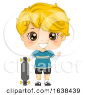 Kid Boy Long Board Illustration