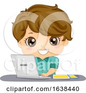Kid Boy Mobile App Developer Illustration