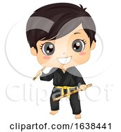 Kid Boy Modern Arnis Illustration
