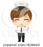Kid Boy Pilot Illustration