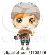 Kid Boy Skate Boarder Illustration