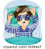 Kid Boy Sleep Eye Mask Illustration