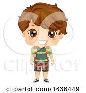 Kid Boy Sports Wall Climbing Harness Illustration