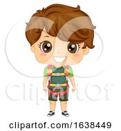 Kid Boy Sports Wall Climbing Harness Illustration